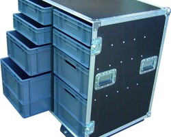 Flight case 8 BACS EURO 600