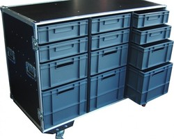 flight case 12 bacs EURO 600
