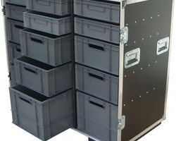 flight case 15 bacs EURO 600