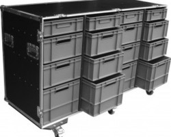 flight case 16 bacs EURO 600