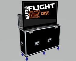 flight case motorisé écran tv