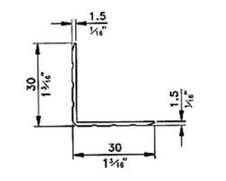 Corniere aluminium 30x30x1.5  barre de 2m