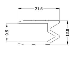 Proflilé hybride 9.5mm barre de 2m