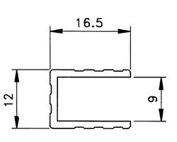 profilé sommet de cloison 9.5mm barre de 1m