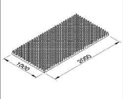 Mousse alvéolé de 20mm en plaque