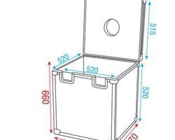 Flight case boule a facettes 50 cm