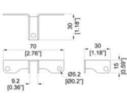 Fixations pour parois séparatrice 9.2mm
