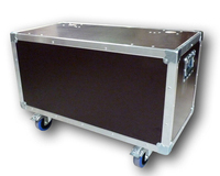 Flight case capot plat 800x400x400