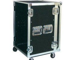 "Flight case rack 19"" 14U a roulettes"