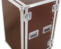 "Flight case rack 19"" 16U a roulettes"