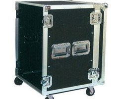 "Flight case rack 19"" 10U a roulettes"