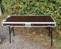 Flight case table simple plateau lisse