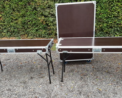 Flight case table double plateau lisse
