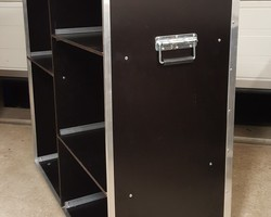 Flight case stand comptoir