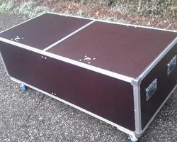 Flight case capot plat  8 compartiments
